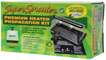 super sprouter premium propagation kit ppk provides a complete system for starting your seeds or cuttings the kit includes a super sprouter 7 inch